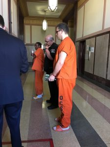Kyle Whitmus was denied a reduction of his $200,000 bond and remains in jail.