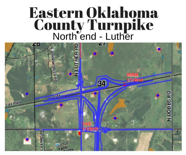 I 40 Oklahoma Map.Turnpike Update Luther Register News